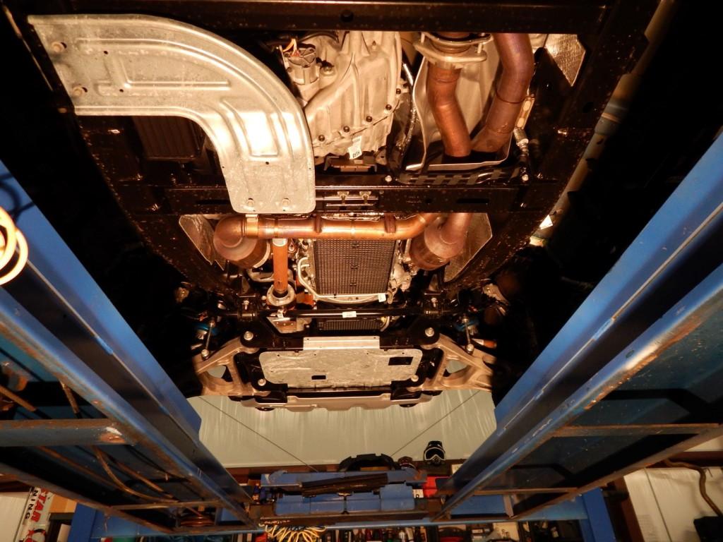 Raptor underside on lift