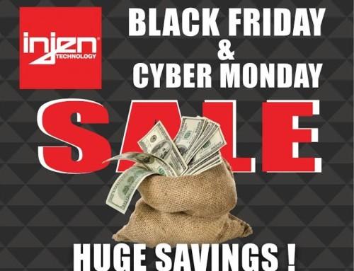 Injen Technology's Black Friday & Cyber Monday Sale 11/28/19 through 12/02/19