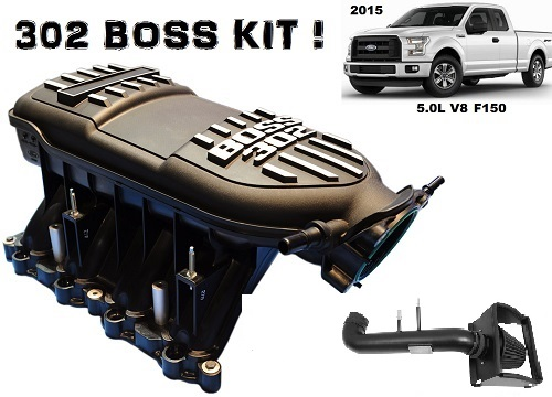 2015-2017 F150 5 0L 5 Star Tuning Boss 302 Intake Manifold Kit with Tunes  (Tuner Optional)