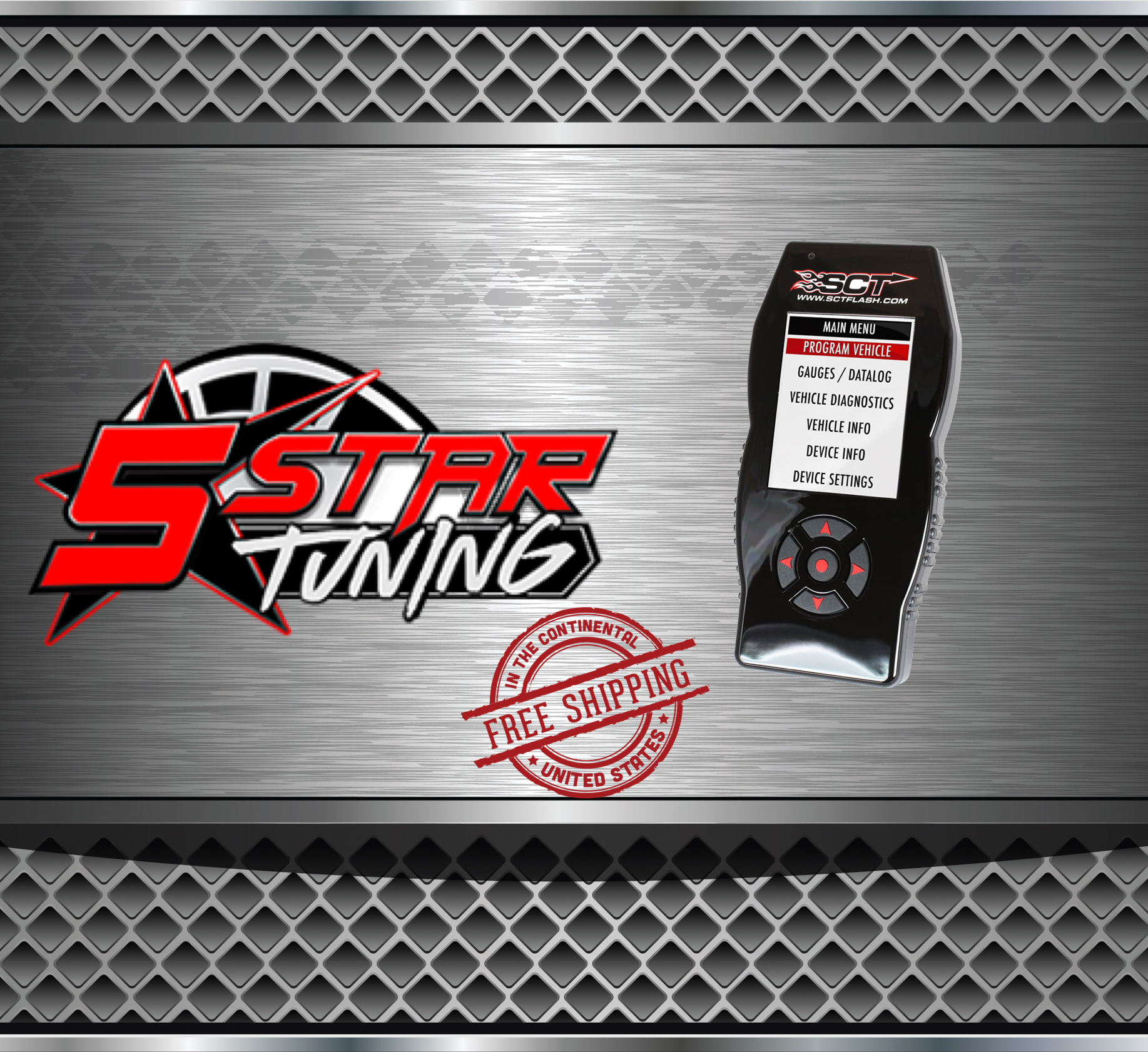 1997-2018 Ford Applications X4 Flash Device with 5 STAR TUNING CUSTOM TUNES  (OPEN BOX)