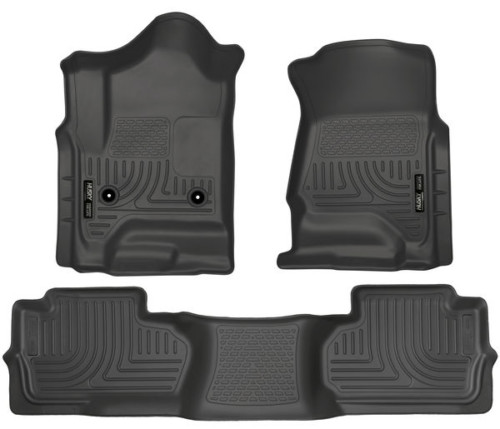 Husky Liners 2011-2018 Ford Fiesta Floor Mat Set Front and Rear Black 98751