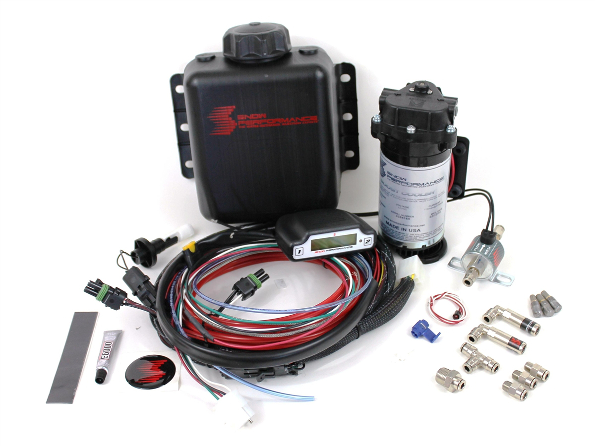 2011-2016 F150 3.5L EcoBoost Stage 3 Boost Cooler Water-Methanol System (3  Quart) Red Nylon Tubing F150-3200-RD